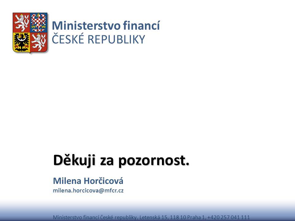 Milena Horčicová milena.horcicova@mfcr.cz
