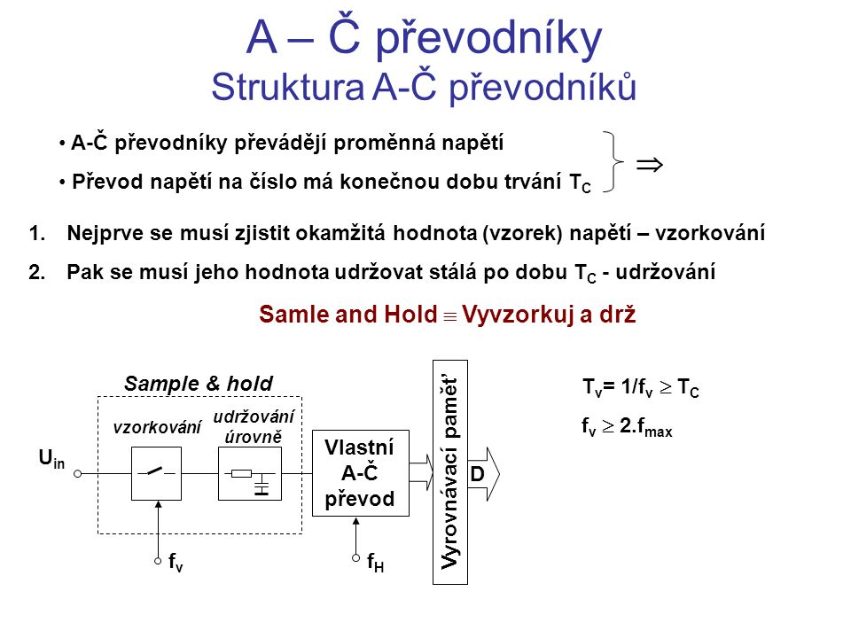 Samle and Hold  Vyvzorkuj a drž