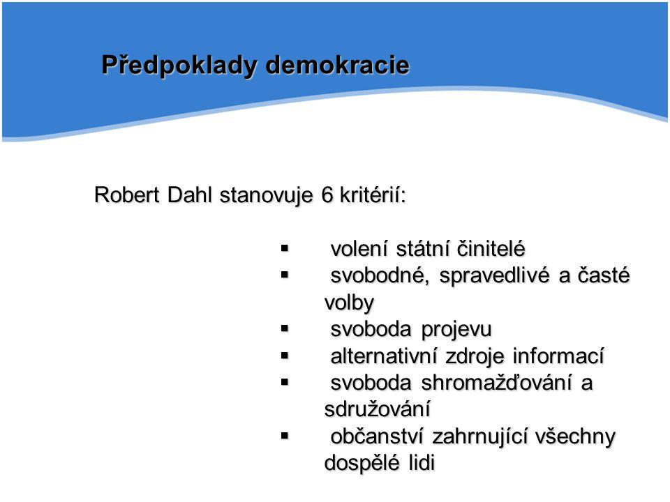 Předpoklady demokracie