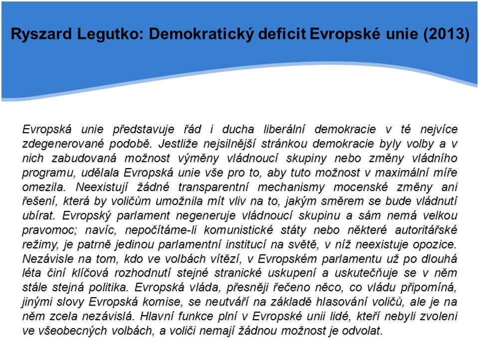 Ryszard Legutko: Demokratický deficit Evropské unie (2013)