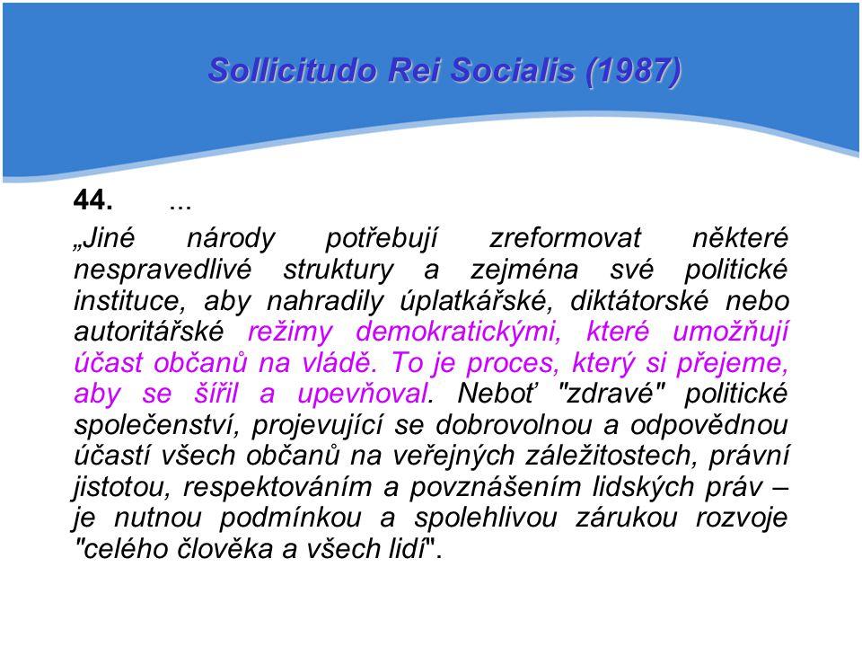 Sollicitudo Rei Socialis (1987)