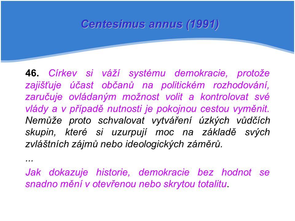 Centesimus annus (1991)
