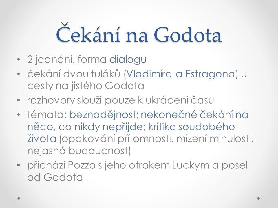 Čekání na Godota 2 jednání, forma dialogu