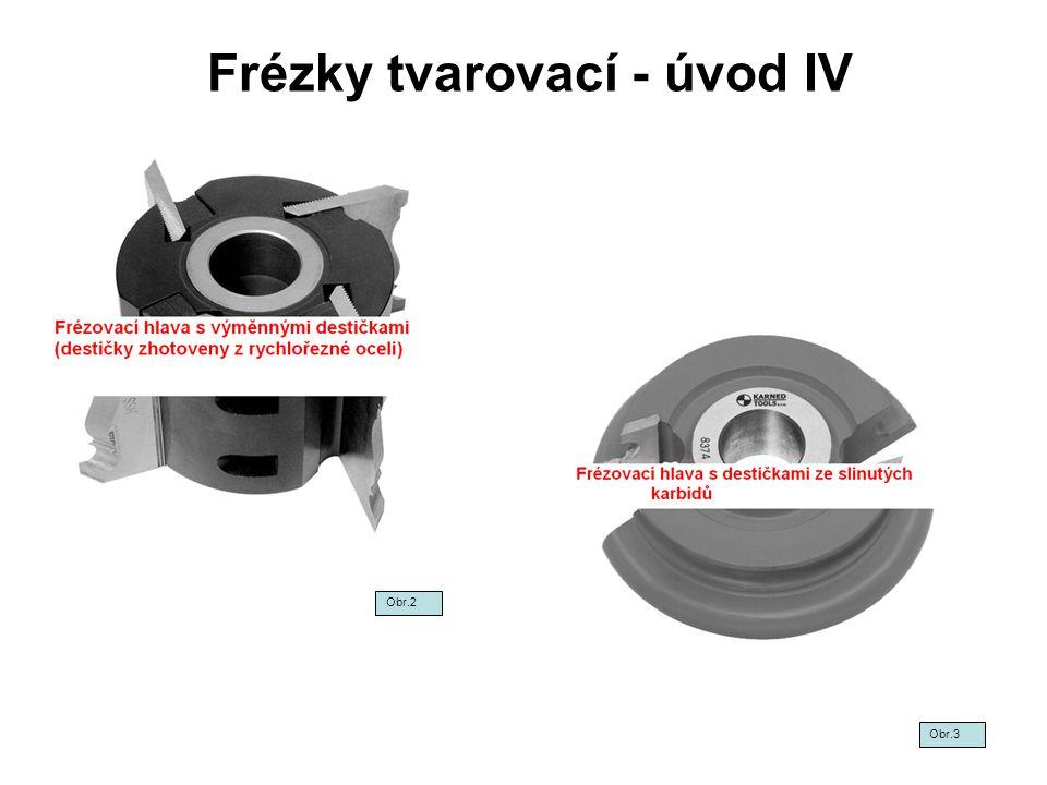 Frézky tvarovací - úvod IV