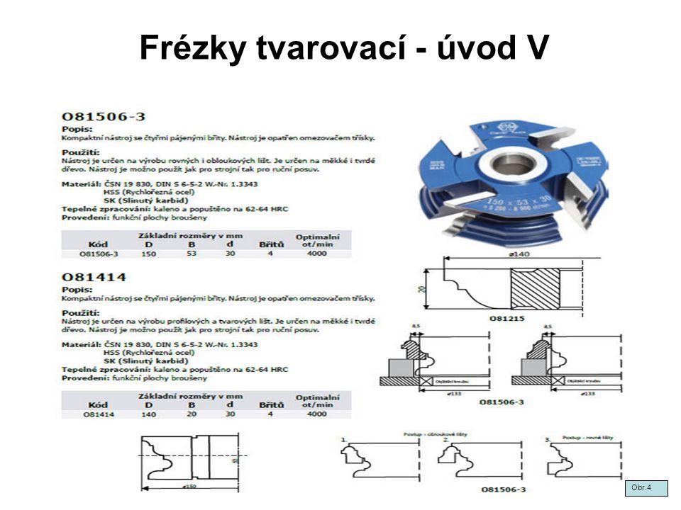 Frézky tvarovací - úvod V