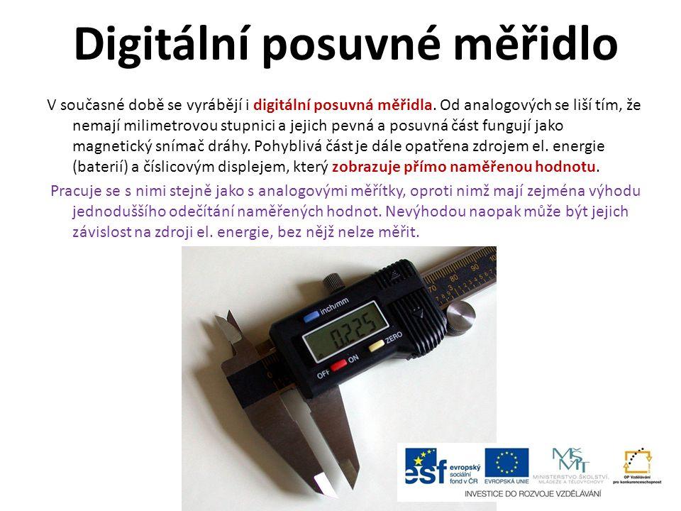 Digitální posuvné měřidlo