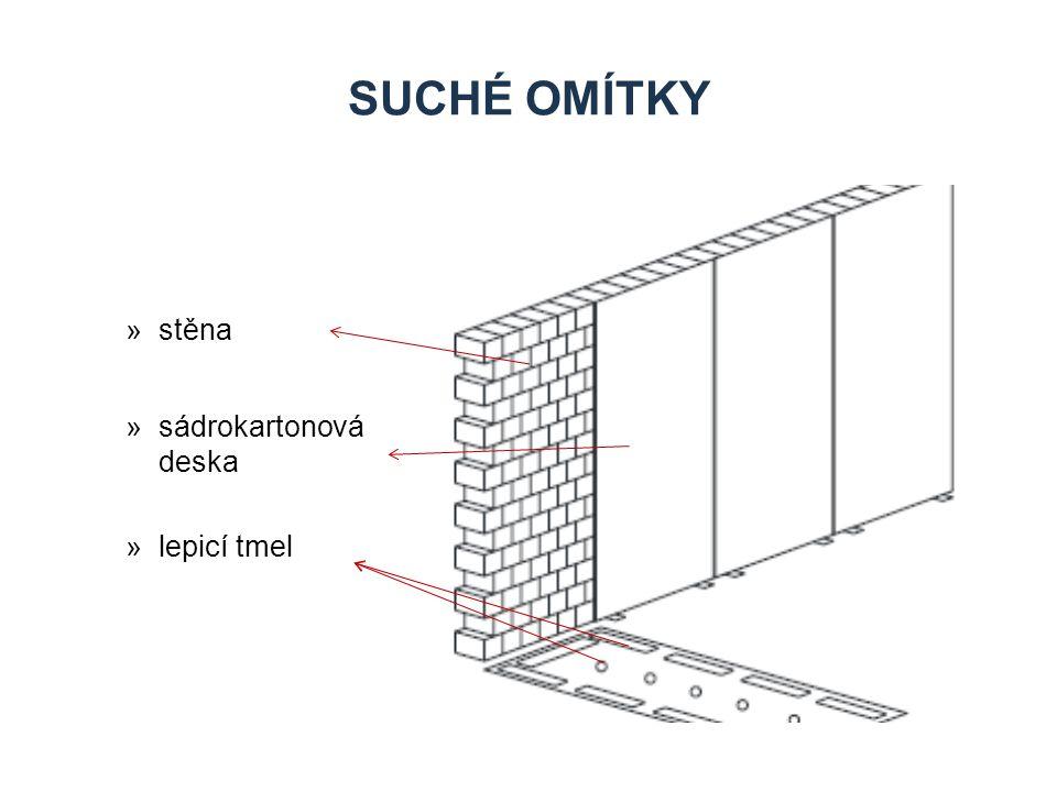 Suché omítky stěna sádrokartonová deska lepicí tmel Zdroje