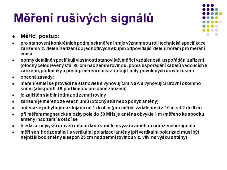 Měření rušivých signálů