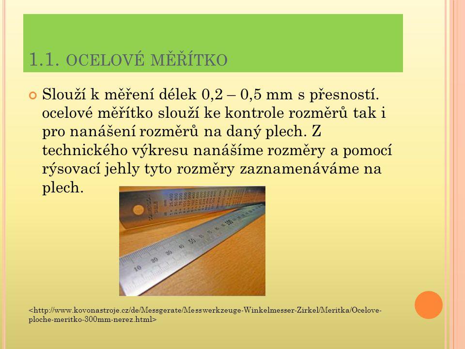 1.1. ocelové měřítko