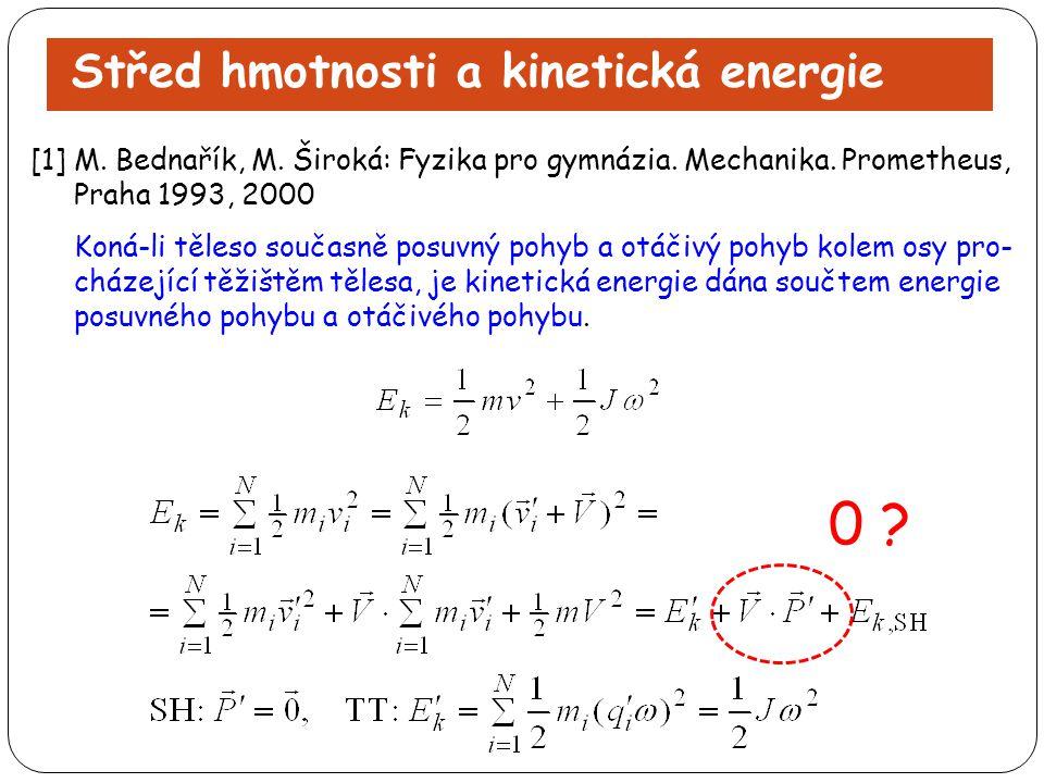 0 Střed hmotnosti a kinetická energie