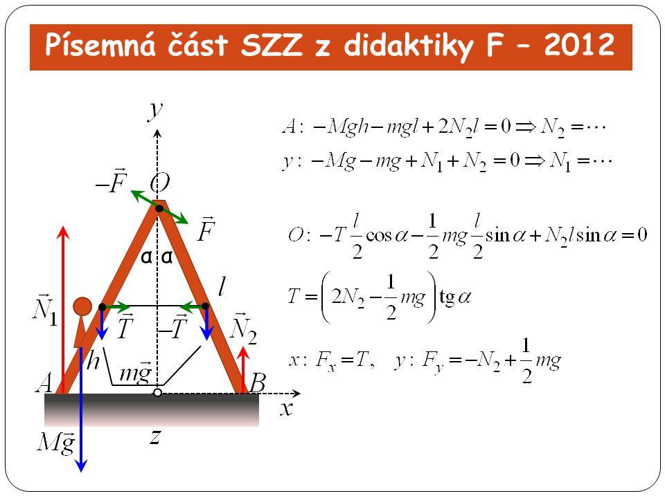 Písemná část SZZ z didaktiky F – 2012