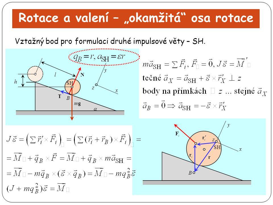 "Rotace a valení – ""okamžitá osa rotace"