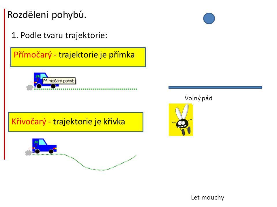 Rozdělení pohybů. 1. Podle tvaru trajektorie: