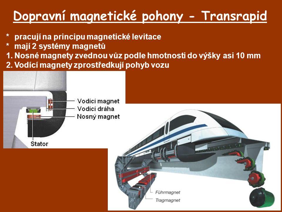 Dopravní magnetické pohony - Transrapid
