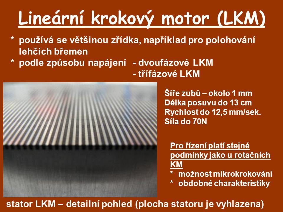Lineární krokový motor (LKM)
