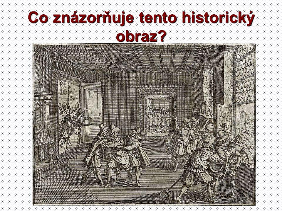 Co znázorňuje tento historický obraz