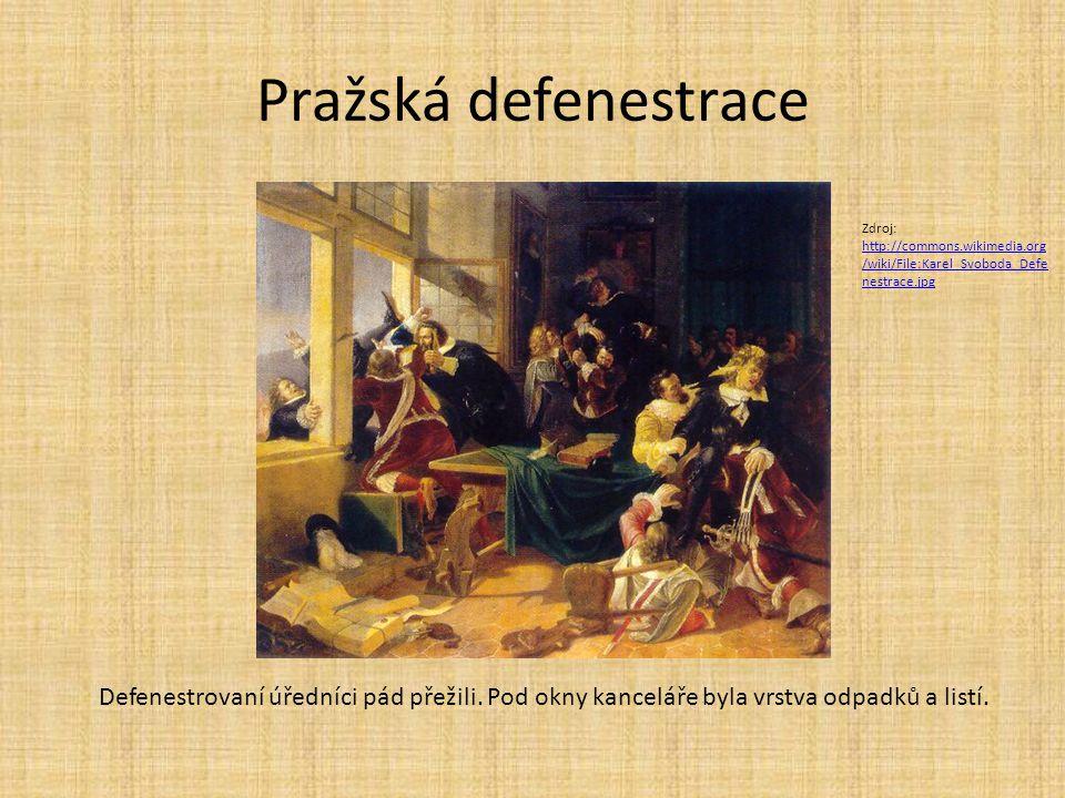 Pražská defenestrace Zdroj: http://commons.wikimedia.org/wiki/File:Karel_Svoboda_Defenestrace.jpg.