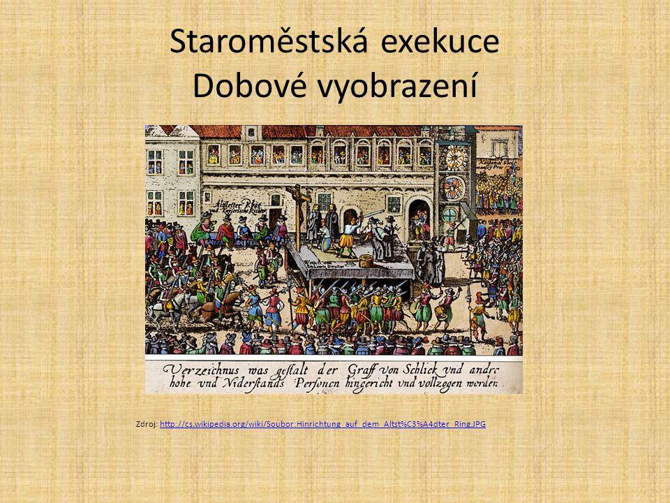 Staroměstská exekuce Dobové vyobrazení