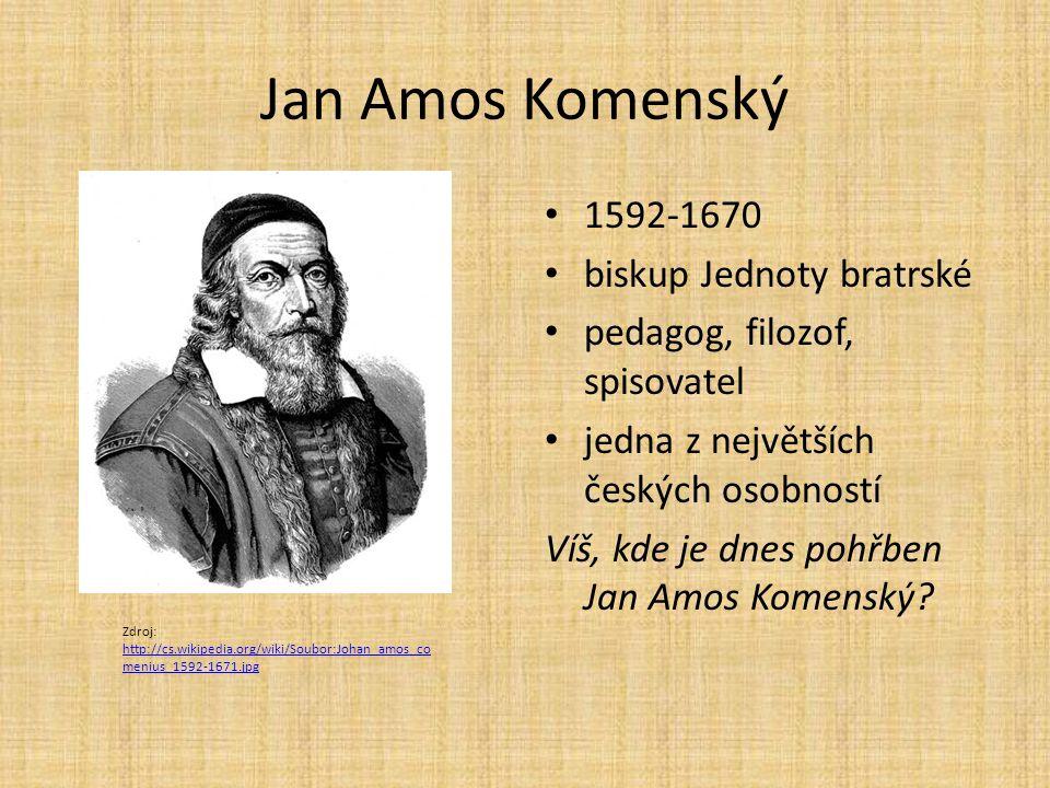 Jan Amos Komenský 1592-1670 biskup Jednoty bratrské