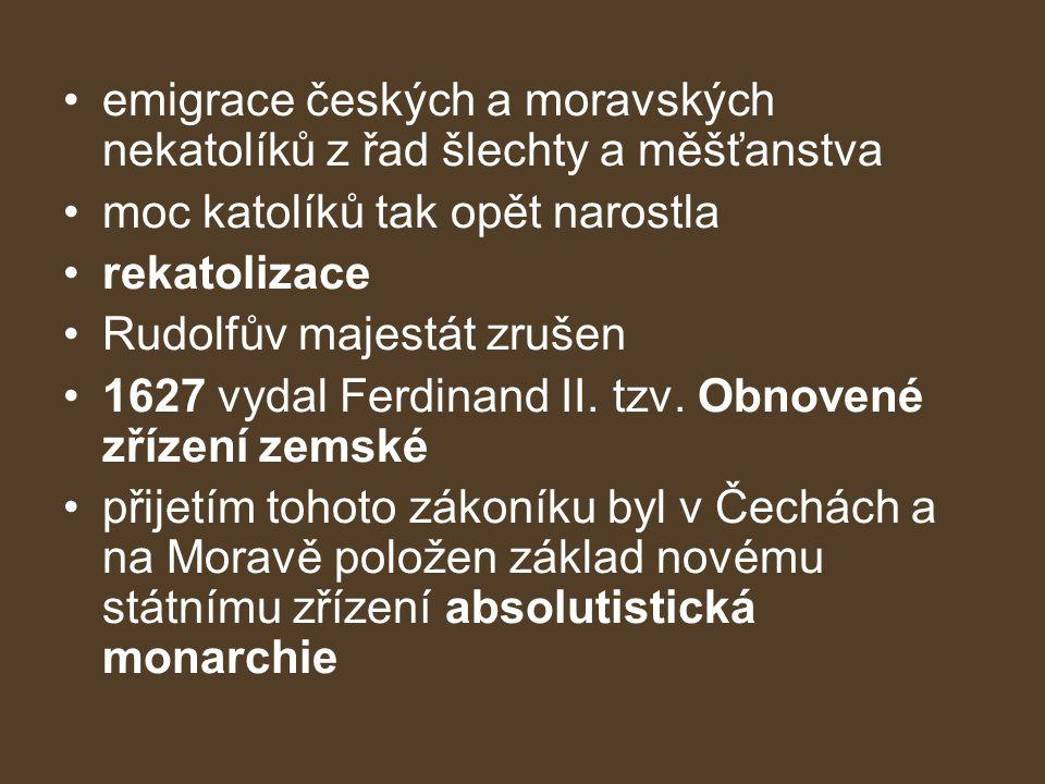 emigrace českých a moravských nekatolíků z řad šlechty a měšťanstva