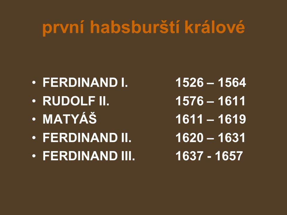první habsburští králové