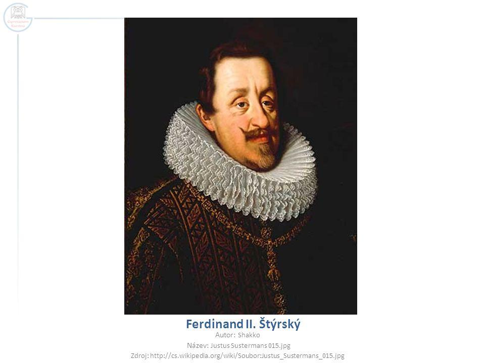 Ferdinand II. Štýrský Autor: Shakko Název: Justus Sustermans 015.jpg
