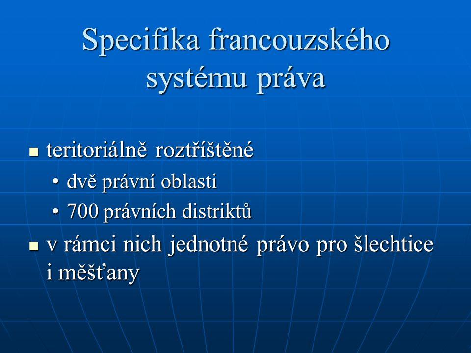 Specifika francouzského systému práva