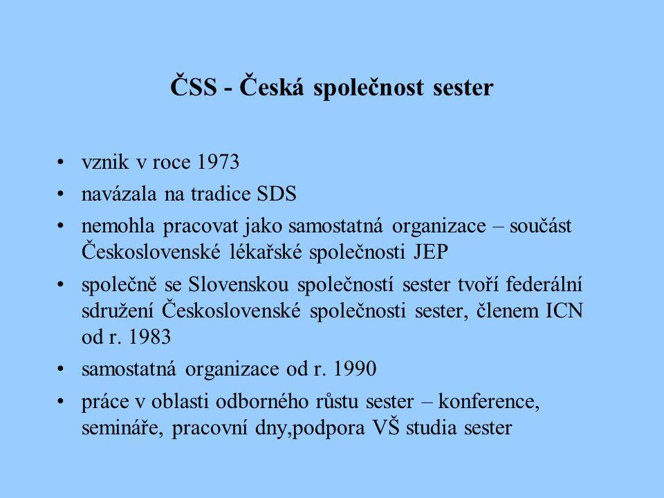 ČSS - Česká společnost sester