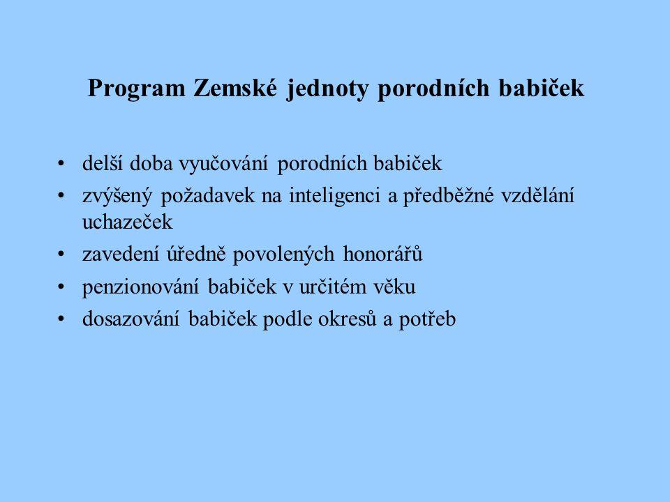 Program Zemské jednoty porodních babiček
