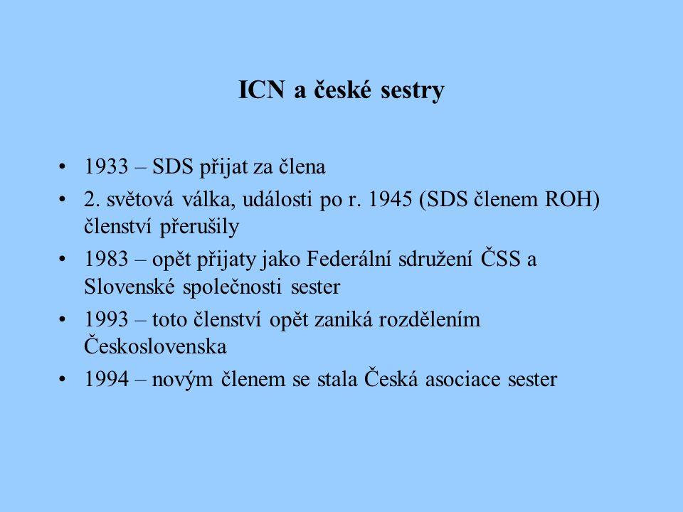 ICN a české sestry 1933 – SDS přijat za člena