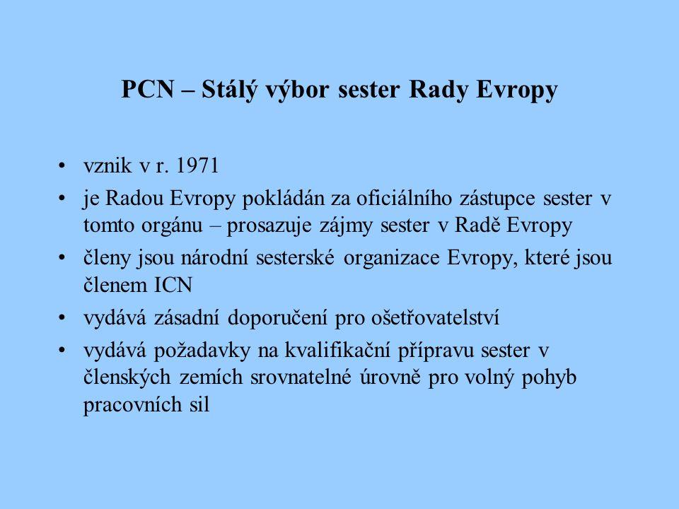 PCN – Stálý výbor sester Rady Evropy