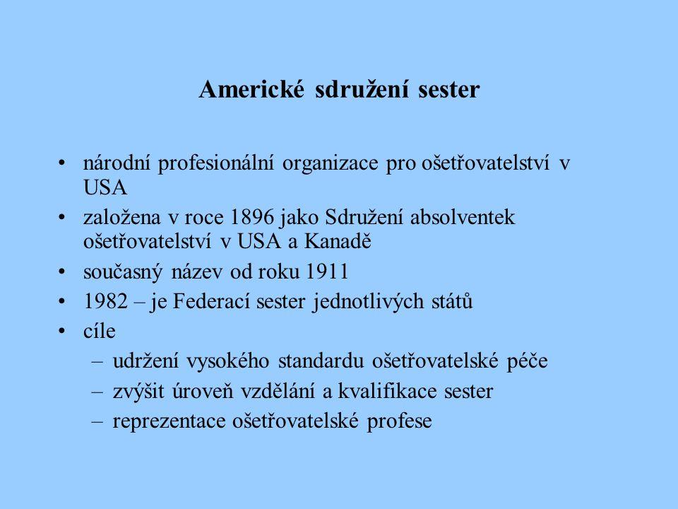 Americké sdružení sester