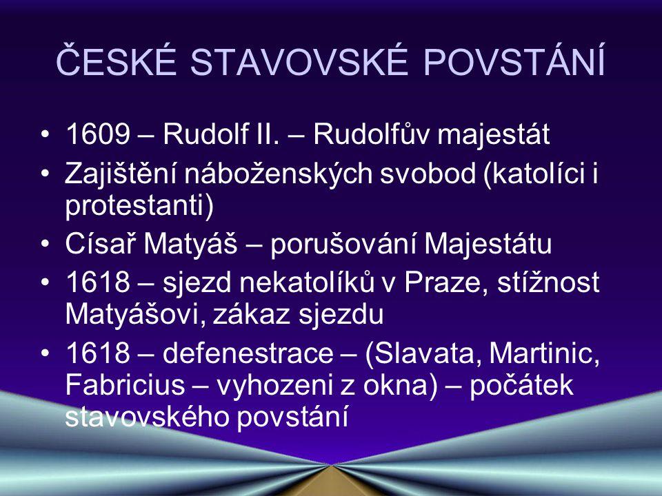 ČESKÉ STAVOVSKÉ POVSTÁNÍ