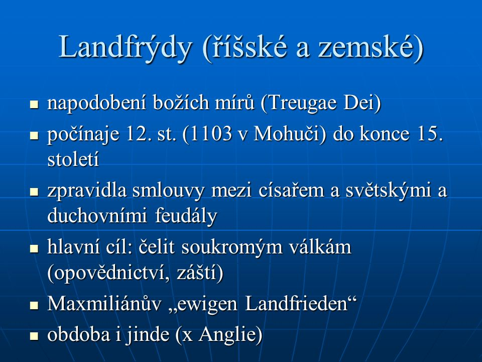 Landfrýdy (říšské a zemské)