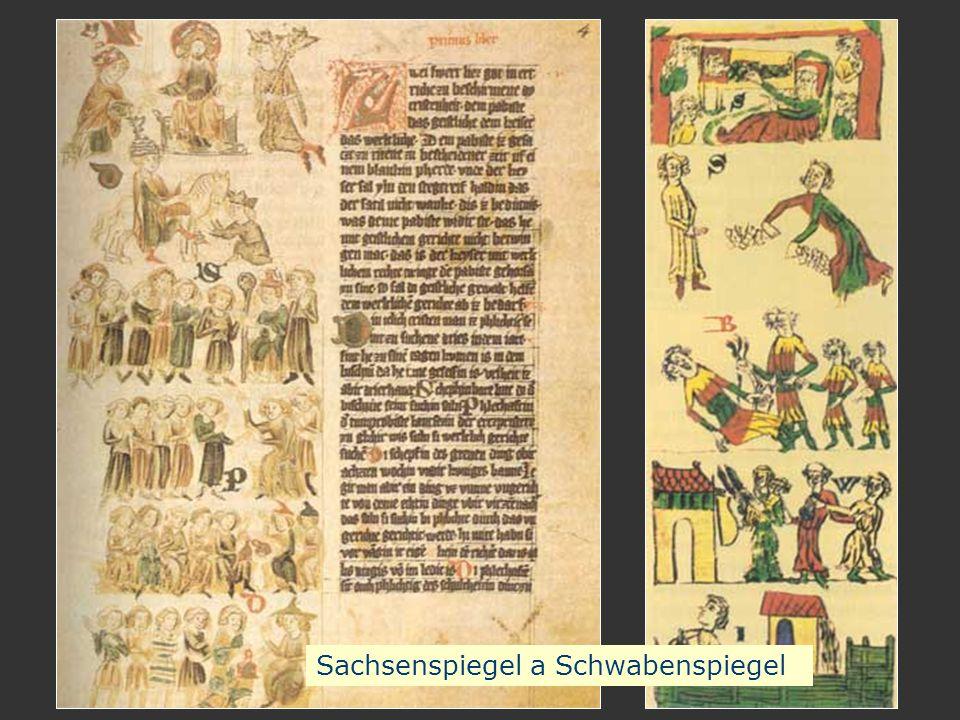 Sachsenspiegel a Schwabenspiegel