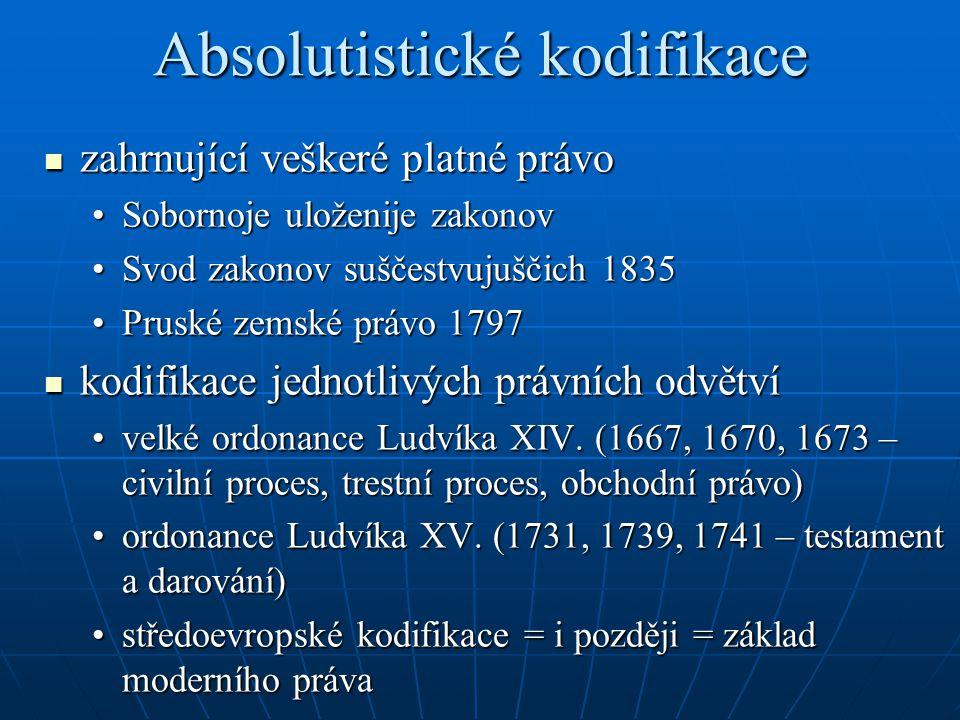 Absolutistické kodifikace