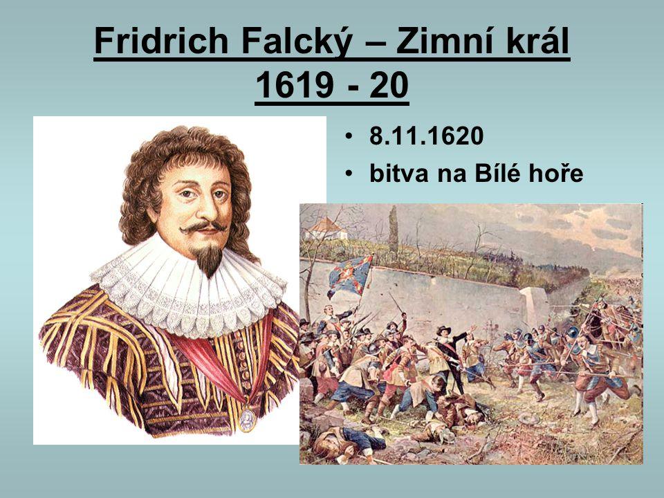 Fridrich Falcký – Zimní král 1619 - 20