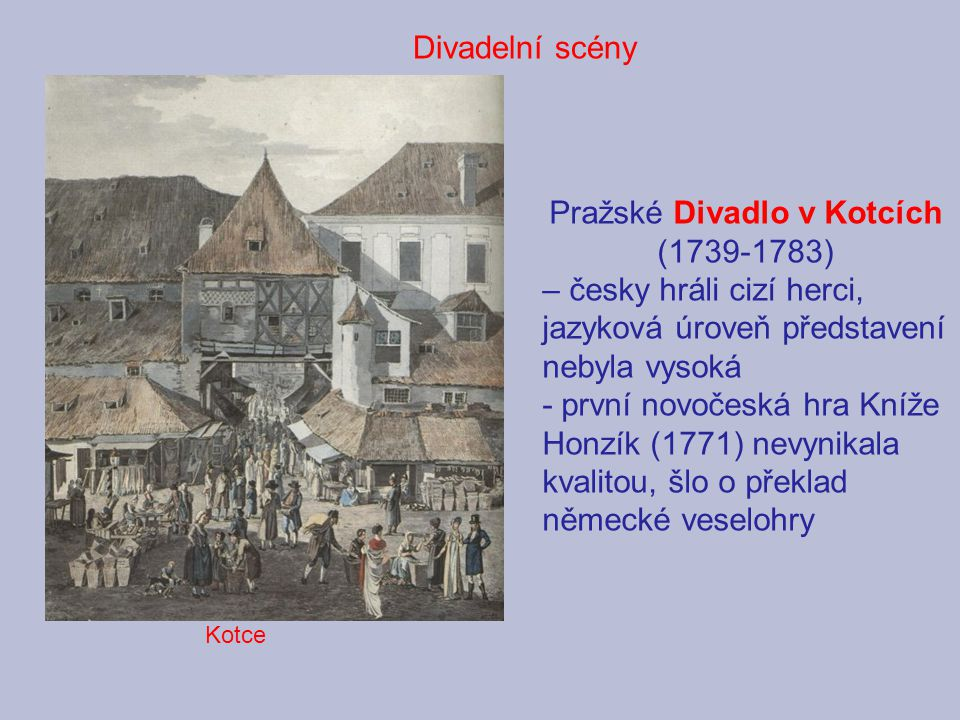 Pražské Divadlo v Kotcích (1739-1783)