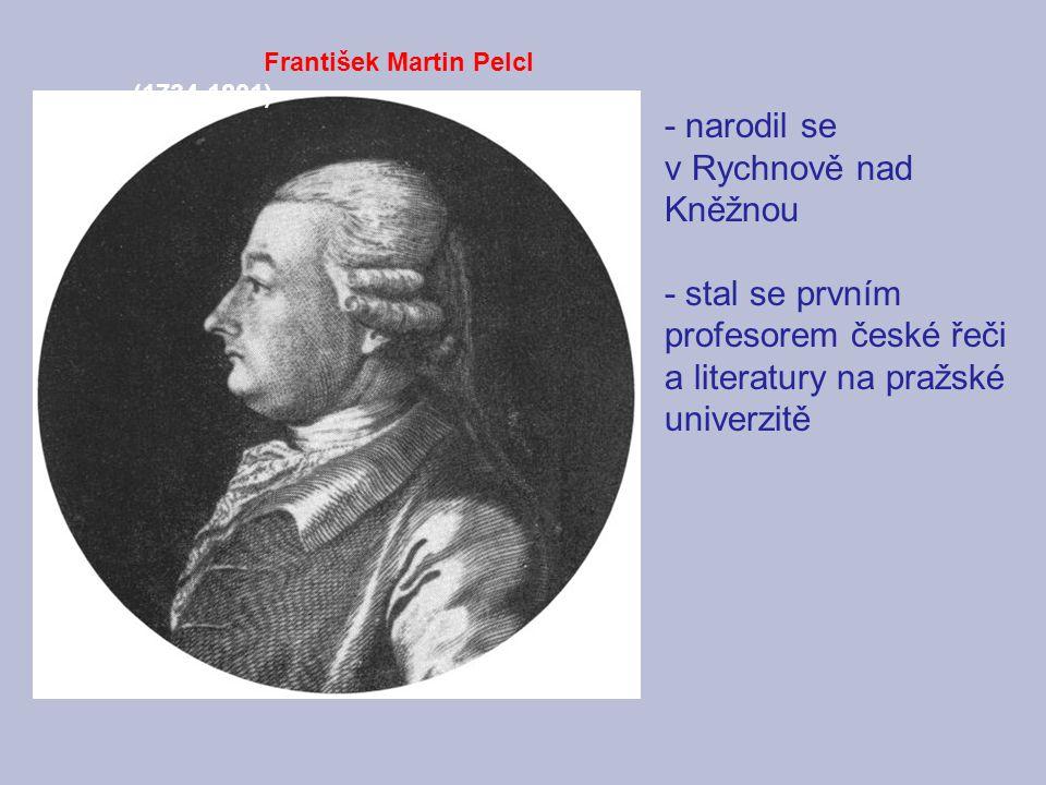 - narodil se v Rychnově nad Kněžnou