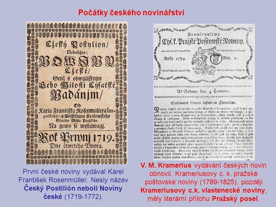 Počátky českého novinářství