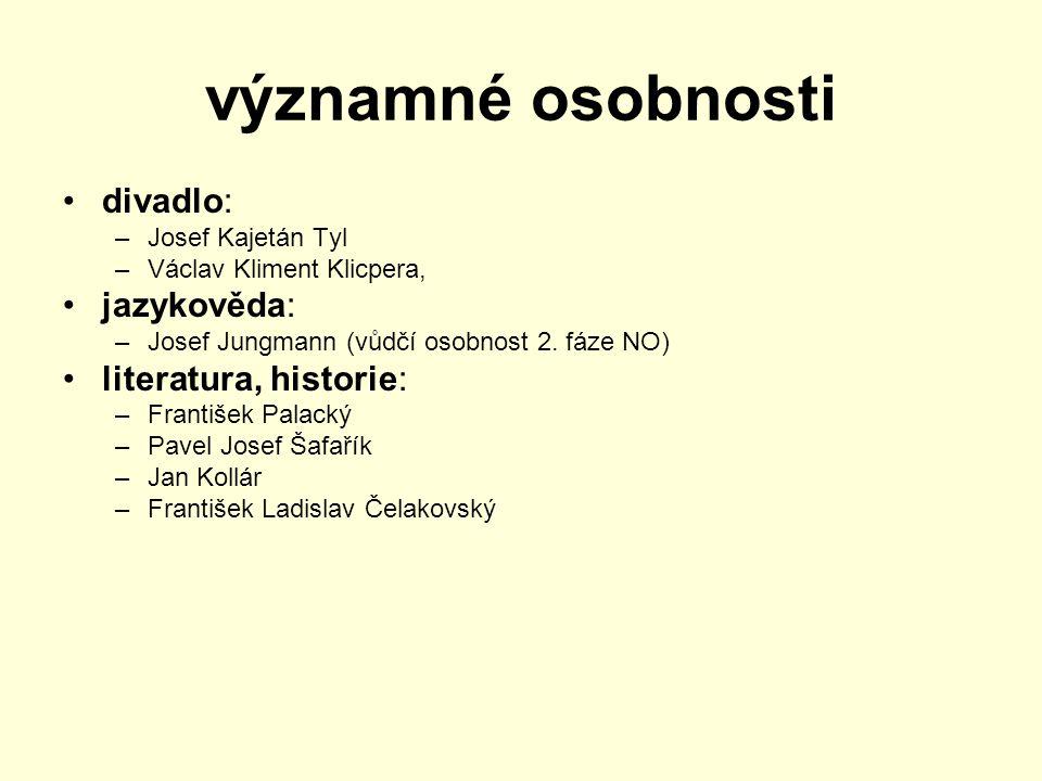 významné osobnosti divadlo: jazykověda: literatura, historie: