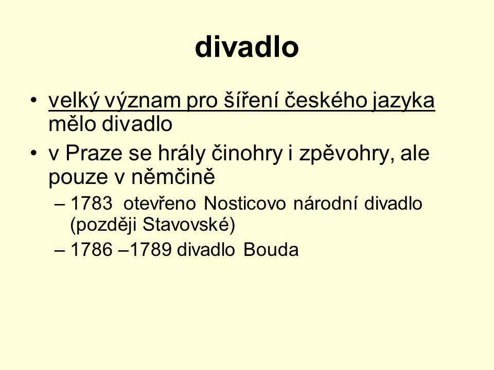 divadlo velký význam pro šíření českého jazyka mělo divadlo