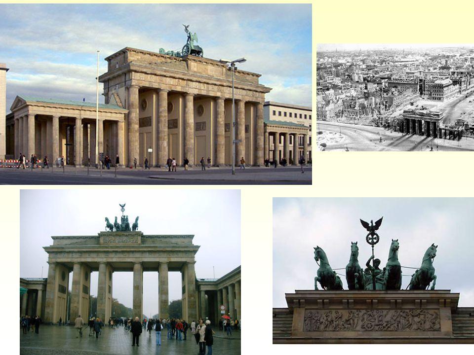 Brandenburská brána: různé pohledy