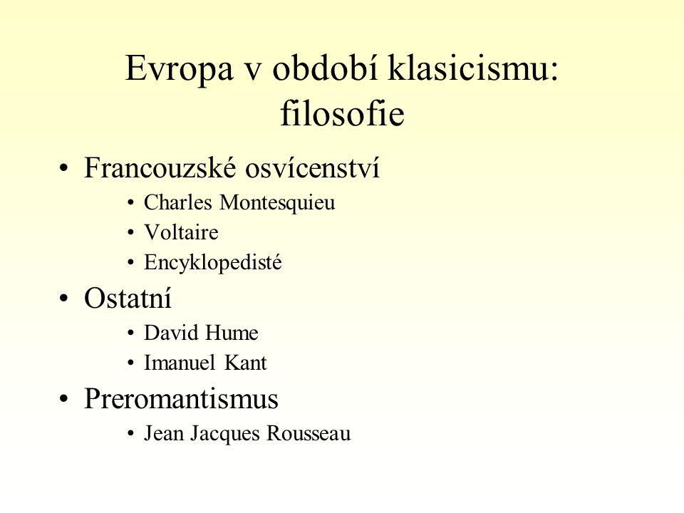 Evropa v období klasicismu: filosofie