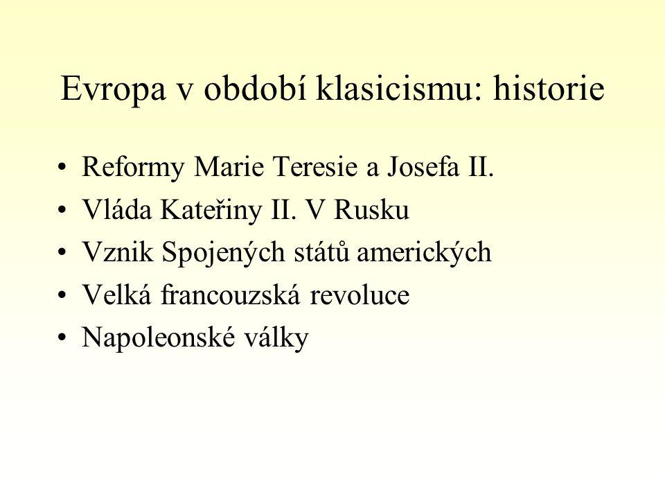 Evropa v období klasicismu: historie