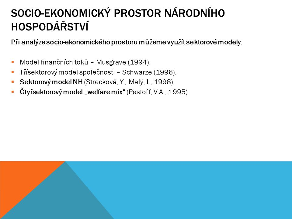 SOCIO-EKONOMICKÝ PROSTOR NÁRODNÍHO HOSPODÁŘSTVÍ