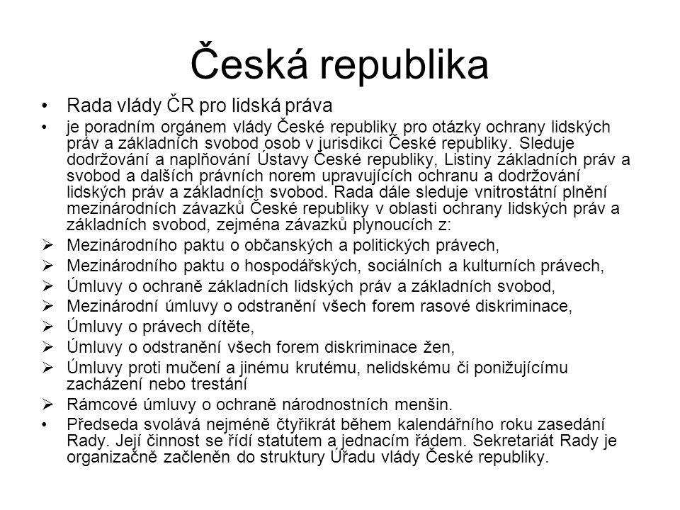 Česká republika Rada vlády ČR pro lidská práva