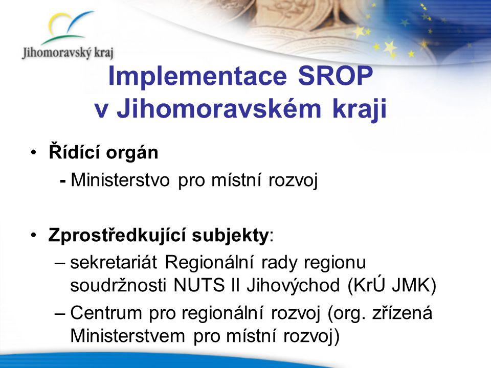 Implementace SROP v Jihomoravském kraji