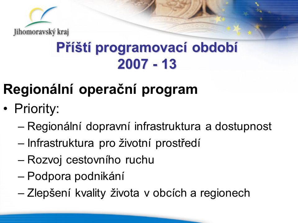 Příští programovací období 2007 - 13