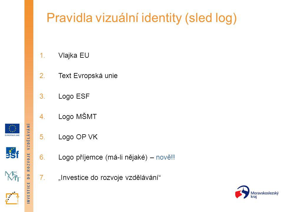 Pravidla vizuální identity (sled log)